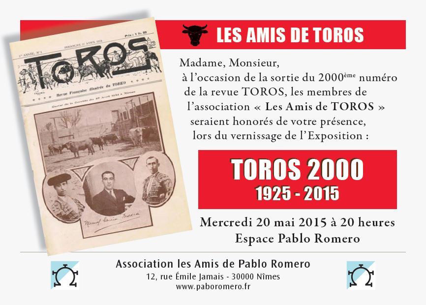 Feria 2015 Invit Toros Print